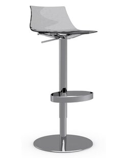 Ice Adjustable Height Swivel Bar Stool by Connubia