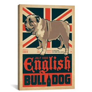 'English Bulldog' Graphic Art on Wrapped Canvas by East Urban Home