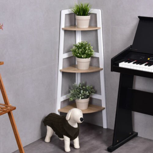 Vesely 3-Tier Wood Ladder Wall Display Corner Unit by Ebern Designs