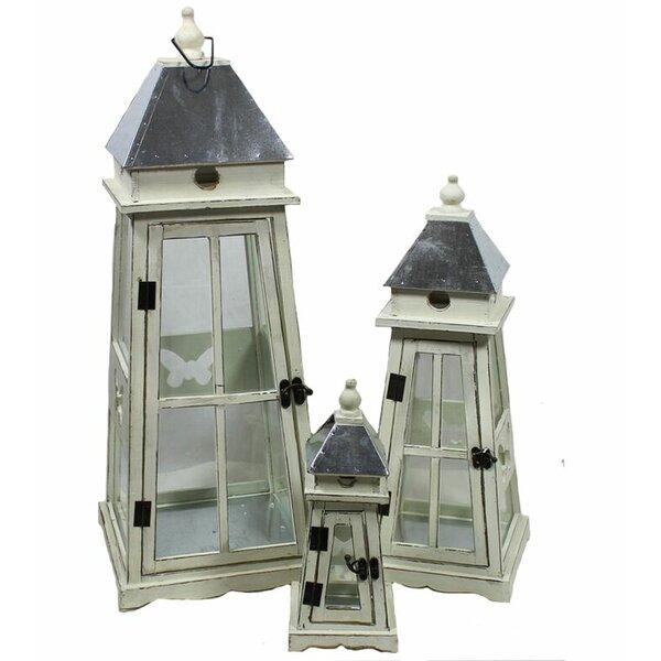 Wooden Lantern Set (Set of 3) by Longshore Tides