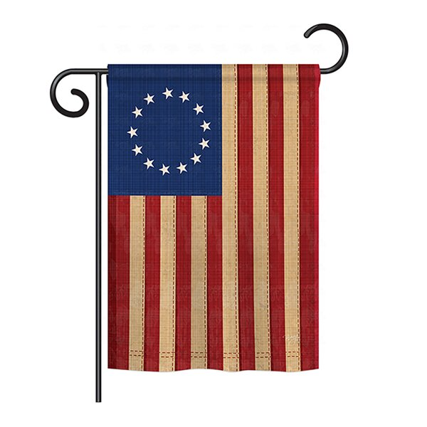 Betsy Ross Vintage 2-Sided Vertical Flag by Breeze Decor