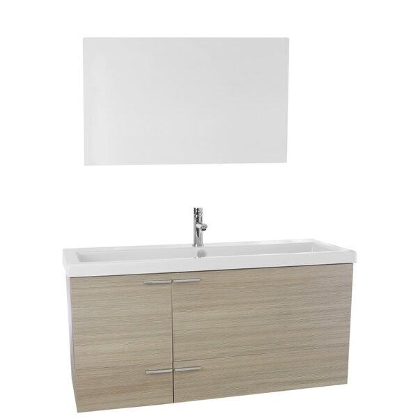 New Space 47 Single Bathroom Vanity Set with Mirror by Nameeks Vanities