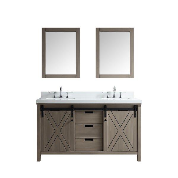 Schmidt 60 Double Bathroom Vanity Set with Mirror