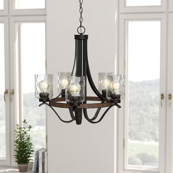 Sabo Indoor 5-Light Shaded Chandelier by Laurel Fo