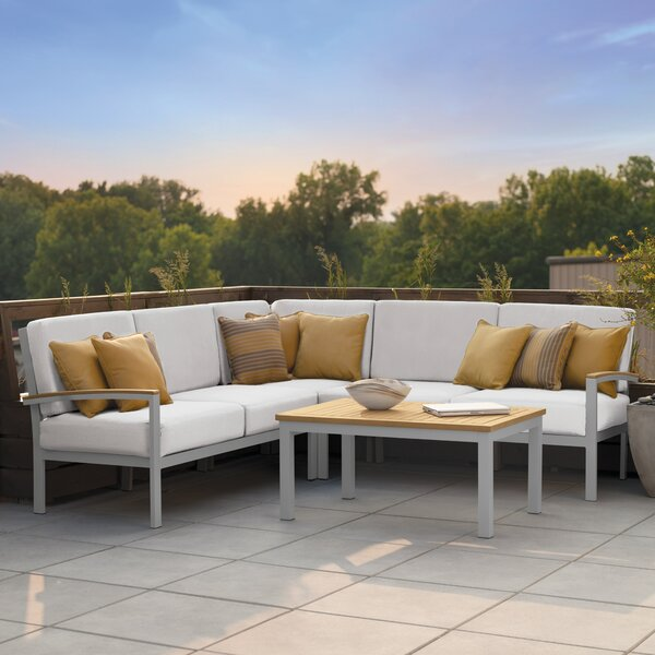 Farmington 4 Piece Sectional Set with Cushions by Latitude Run