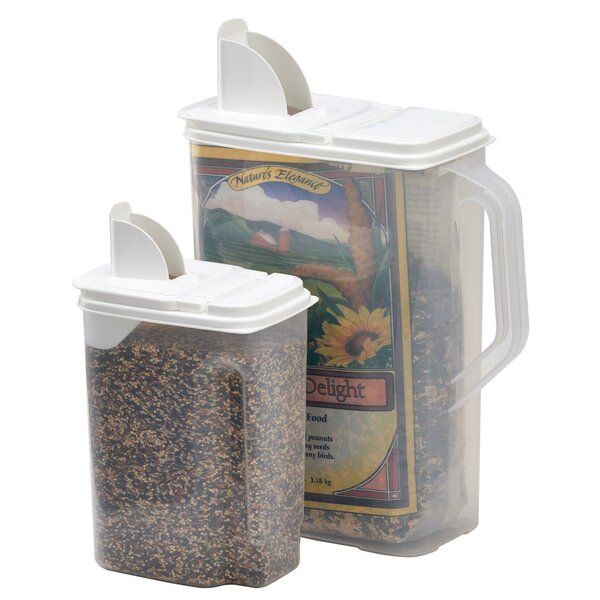 Bird Seed 2 Container Food Storage Set by Buddeez