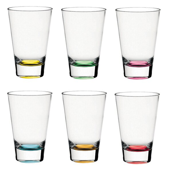 Confetti 14 oz. Highball Glass (Set of 6) by Majestic Crystal