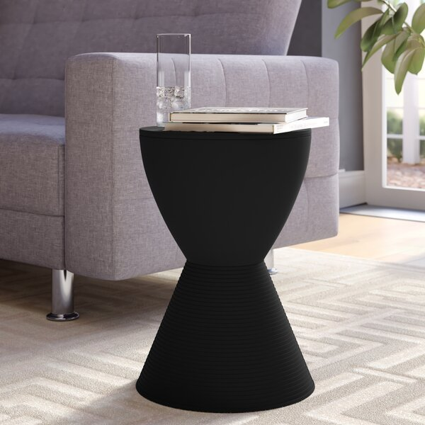 Osceola Tray Top Drum End Table With Storage By Orren Ellis