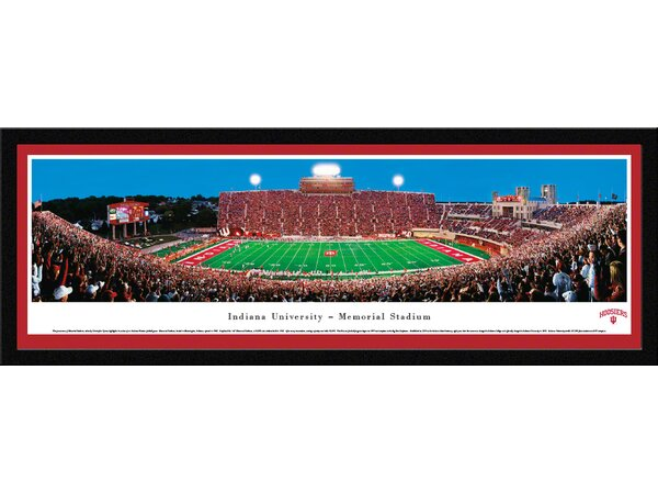 NCAA Indiana University - Football by Christopher Gjevre Framed Photographic Print by Blakeway Worldwide Panoramas, Inc