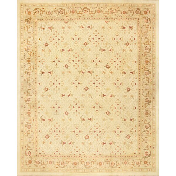 One-of-a-Kind Amritsar Hand-Knotted Ivory 13'7 x 17' Wool Area Rug