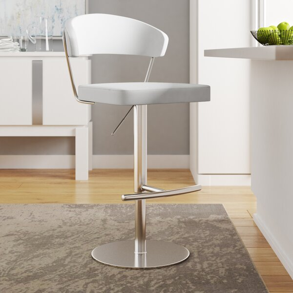 Rivka Adjustable Height Swivel Bar Stool by Wade Logan