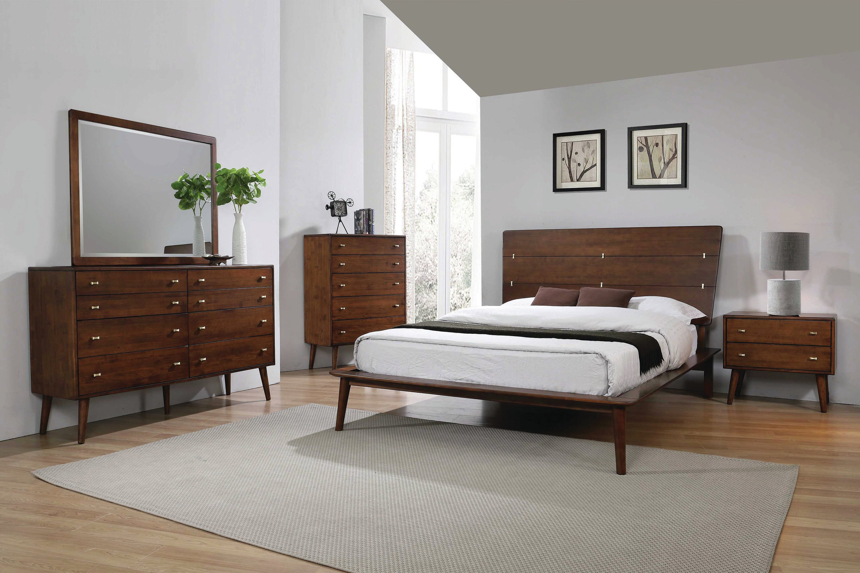 Chinn Platform Solid Wood Configurable Bedroom Set