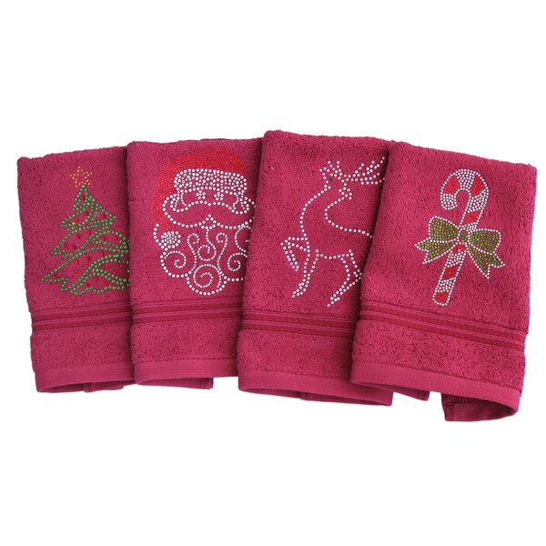Holiday Egyptian-Quality Cotton Washcloth by Sparkles Home