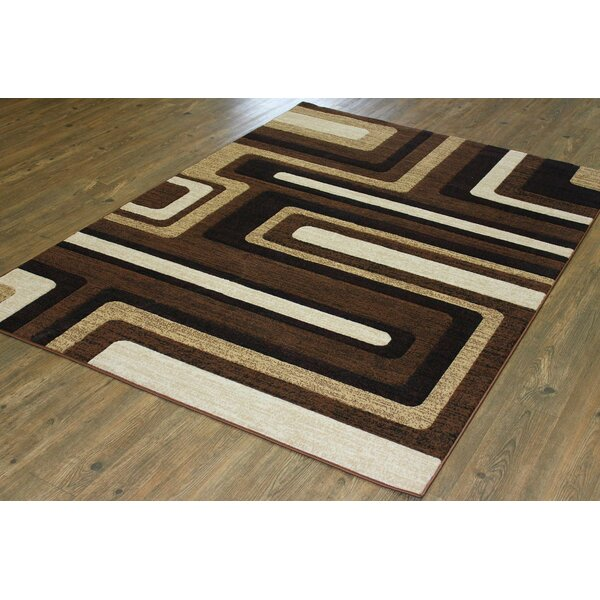 LifeStyle Black/Brown Area Rug by Rug Factory Plus