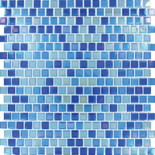 0.6 x 0.6 Glass Mosaic Tile in Blue by MSI