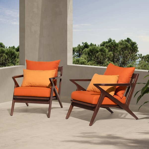 Chaya Patio Chair with Sunbrella Cushions (Set of 2) by Longshore Tides