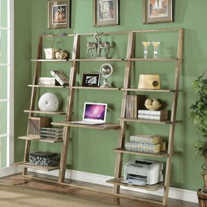 Simonetti Leaning Desk With Bookcase