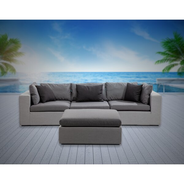 Malani 4 Piece Sofa Seating Group with Sunbrella Cushions by Brayden Studio