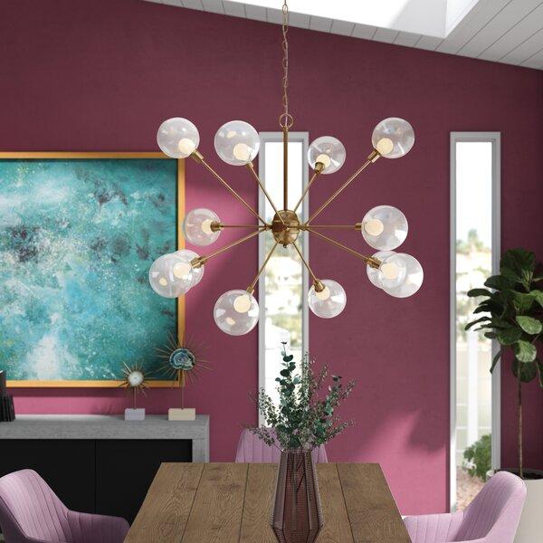 Zelie 12 - Light Sputnik Sphere Chandelier by Everly Quinn Everly Quinn
