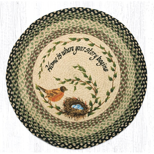 Robins Nest Printed Area Rug by Earth Rugs