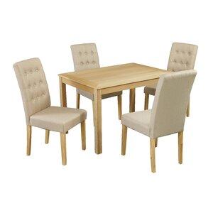 Essgruppe Oakridge mit 4 Stühlen von All Home
