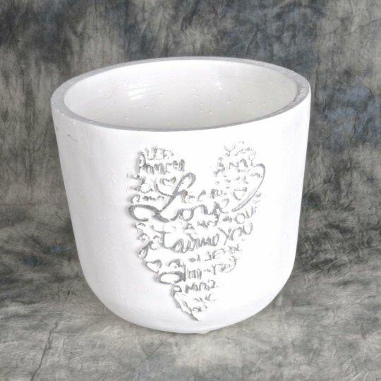 Heart Ceramic Pot Planter (Set of 2) by Mr. MJs