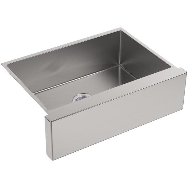 Strive 29.5 L x 21.25 W Self-Trimming Undermount Medium Single-Bowl Kitchen Sink by Kohler