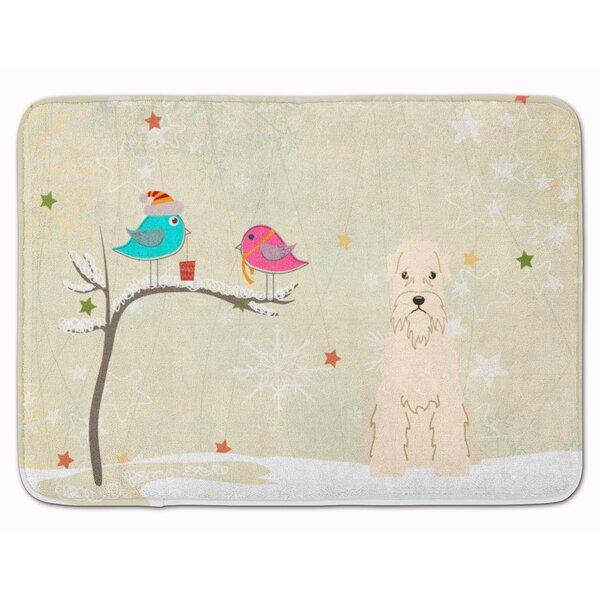 Christmas Soft Coated Wheaten Terrier Memory Foam Bath Rug