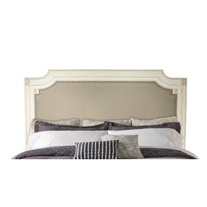 Waverley Carved Upholstered Panel Headboard by Beachcrest Home