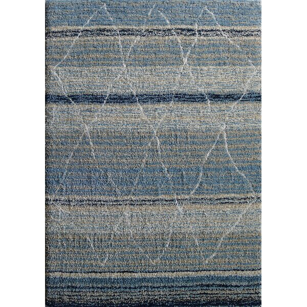Moro Shag Hand-Tufted Blue/Beige Area Rug by Rug Factory Plus
