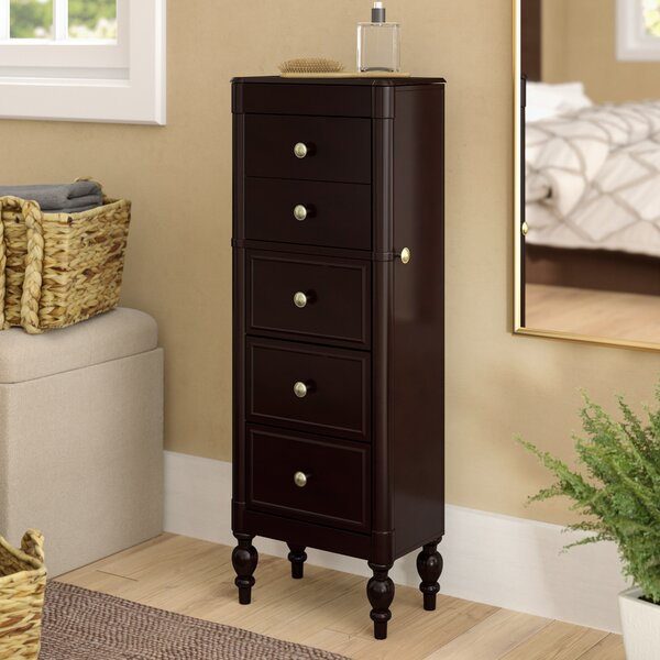 Carnbore Jewelry Armoire with Mirror by Three Post