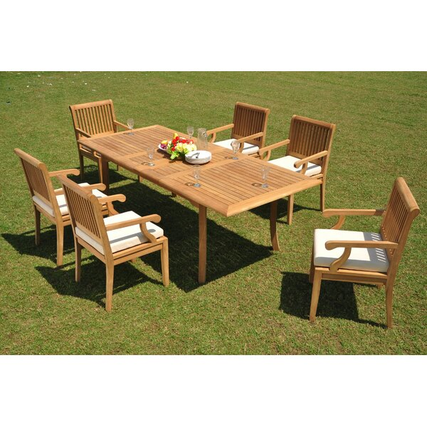 Duane 7 Piece Teak Dining Set by Rosecliff Heights