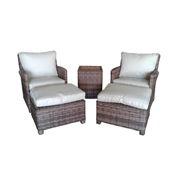 Dutil 5 Piece Conversation Set with Cushions by Brayden Studio