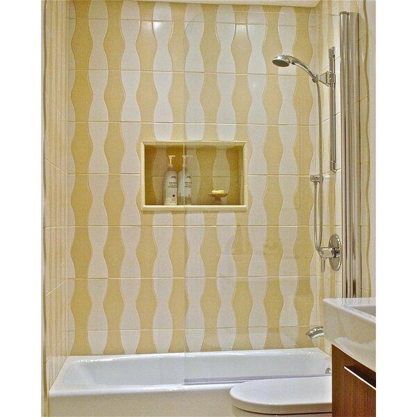 30 x 70 Pivot Semi-Frameless Tub Door by Ark Showers
