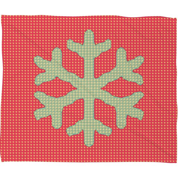 Oosterhout Snowflake Plush Fleece Throw Blanket by The Holiday Aisle