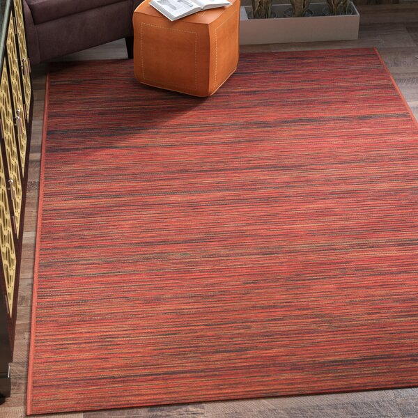 Amasa Crimson Indoor/Outdoor Area Rug by World Menagerie