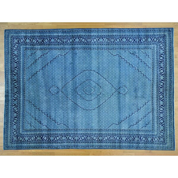 One-of-a-Kind Beaton Denim Handwoven Blue Wool/Silk Area Rug by Isabelline