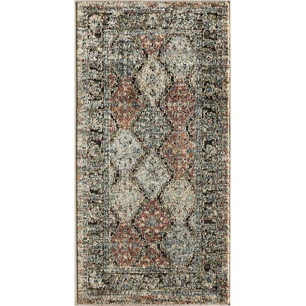 Kauffman Blue/Beige Area Rug by World Menagerie