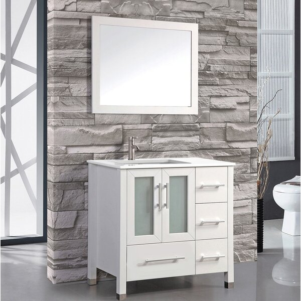Nadeau 36 Single Sink Bathroom Vanity Set with Mirror by Ivy Bronx