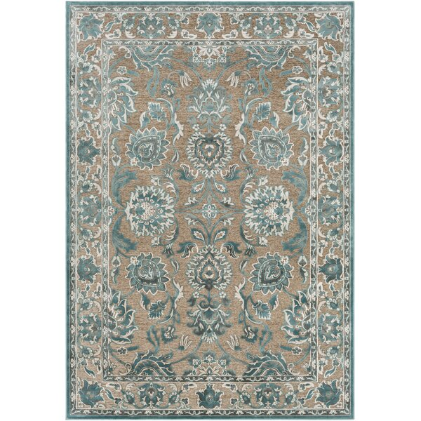 Northlake Floral Teal Area Rug by Charlton Home