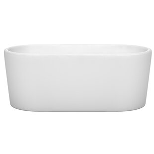 Reviews Ursula 59 x 27.5 Freestanding Soaking Bathtub By Wyndham Collection