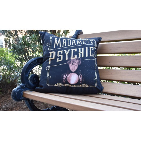 Maser Madame Psychic Halloween Outdoor Throw Pillow by The Holiday Aisle