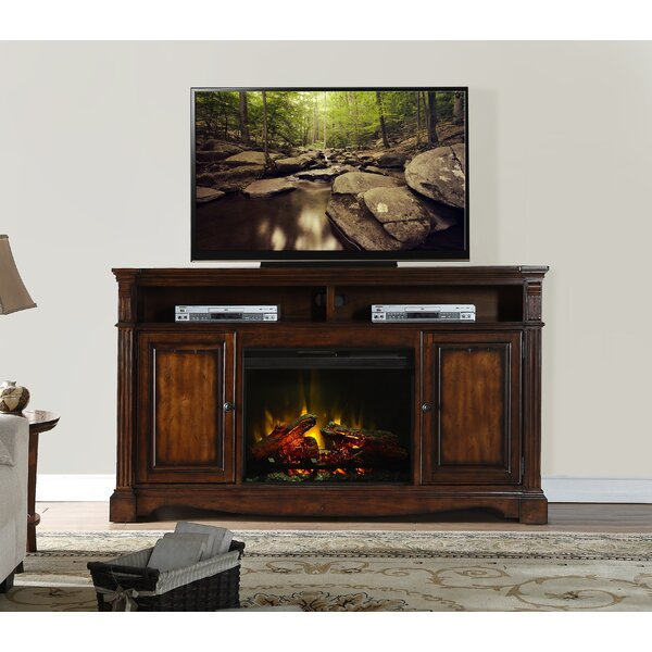 Carrow 72 TV Stand with Fireplace by Fleur De Lis Living