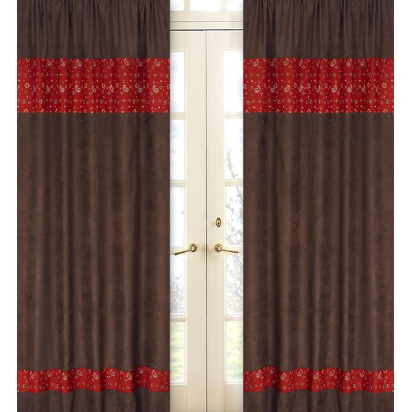 Wild West Cowboy Paisley Semi-Sheer Rod pocket Curtain Panels (Set of 2) by Sweet Jojo Designs