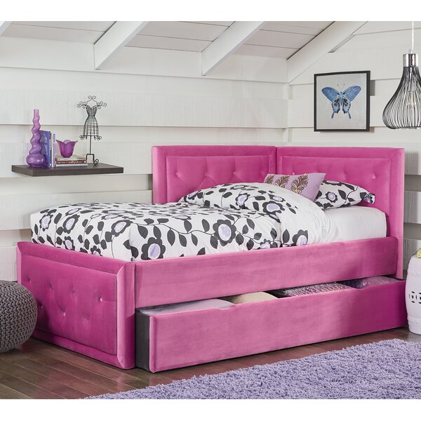 Kristy Twin Platform Bed with Trundle by Harriet Bee