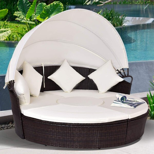 Guiliaine 2-In-1 Patio Daybed with Cushions by Latitude Run