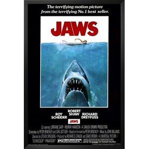 'Jaws - Steven Speilberg - Movie' Framed Graphic Art by Buy Art For Less