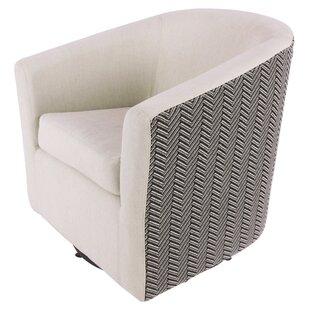 Teesha Swivel Barrel Chair ByOrren Ellis
