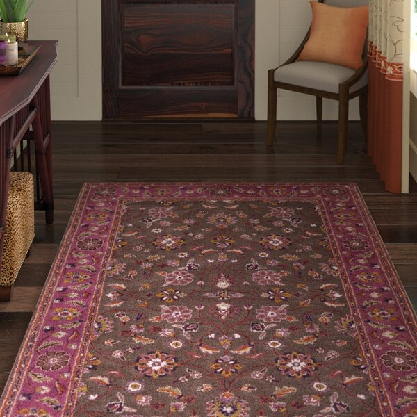 Topaz Chocolate/Eggplant Area Rug by World Menagerie