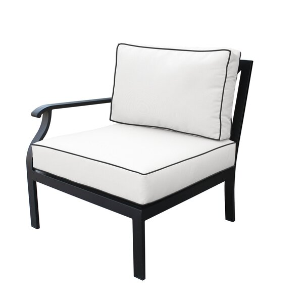 Madison Right Hand Patio Chair with cushions by kathy ireland Homes & Gardens by TK Classics kathy ireland Homes & Gardens by TK Classics